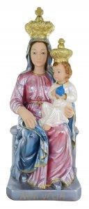 Copertina di 'Statua Madonna Novi Velia in gesso madreperlato dipinta a mano - 40 cm'