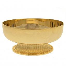 Copertina di 'Patena con base in ottone dorato - diametro 12 cm'