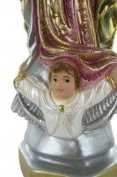 Immagine di 'Statua Madonna di Guadalupe in gesso madreperlato dipinta a mano - 25 cm'