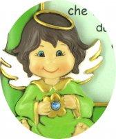 Immagine di 'STOCK : Portafoto per bambino con Angelo - 17 x 13 cm'