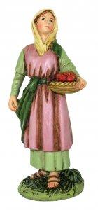 Copertina di 'Pastorella con cesto di frutta Linea Martino Landi - presepe da 10 cm'
