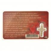 "Immagine di 'Card medaglia ""Papa Francesco e Gesù Bambino"" (10 pezzi)'"