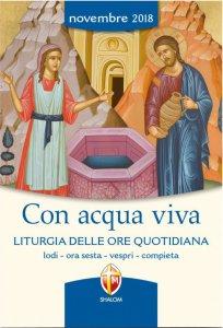 Copertina di 'Con acqua viva. Liturgia delle Ore quotidiana. Novembre 2018'