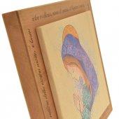 """Immagine di 'Quadretto in legno con Madonna in rilievo e preghiera """"Ave Maria""""'"""