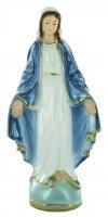 Statua Madonna Miracolosa in gesso madreperlato dipinta a mano - 15 cm