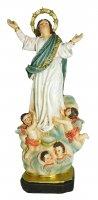 Statua di Madonna Assunta in cielo da 12 cm in confezione regalo con segnalibro in versione FRANCESE