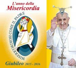 Copertina di 'Libretto Rosario Anno della Misericordia con logo del Giubileo e coroncina'