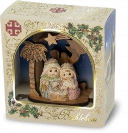 Copertina di 'Presepe in legno d'ulivo con scatola Bethlem - altezza 8 cm'