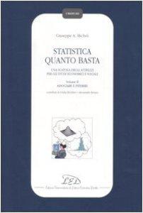 Copertina di 'Statistica quanto basta. Una scatola degli attrezzi per gli studi economici e sociali vol.2'