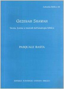 Copertina di 'Gezerah shawah. Storia, forme e metodo dell'analogia biblica'