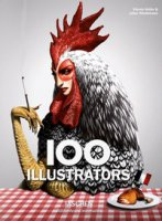 100 illustrators. Ediz. italiana, spagnola e portoghese - Heller Steven, Wiedermann Julius