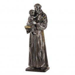 """Copertina di 'Statua sacra in resina argentata """"Sant'Antonio di Padova"""" - altezza 50 cm'"""
