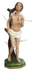 Copertina di 'Statua San Sebastiano in gesso dipinta a mano - 40 cm'