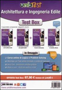 Copertina di 'Test Box architettura e ingegneria edile: Manuale di teoria-Eserciziario commentato-Prove di verifica-6.000 quiz. Con aggiornamento online'