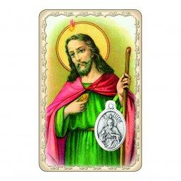 """Copertina di 'Card """"San Giuda Taddeo"""" con preghiera e medaglia - (10 pezzi)'"""