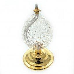Copertina di 'Lume a forma di goccia con base dorata'