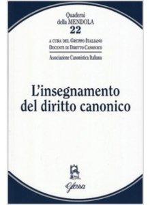 Copertina di 'L' insegnamento del diritto canonico'