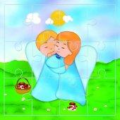 """Mini puzzle """"L'abbraccio"""" (12 pezzi)"""