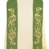 Immagine di 'Stola verde con  cristogramma IHS in stile gotico'