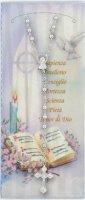Cartoncino ricordo della Cresima con salmo e rosario
