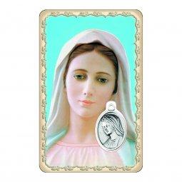 """Copertina di 'Card """"Madonna di Medjugorje"""" con preghiera e medaglia - (10 pezzi)'"""