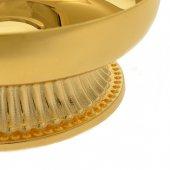 Immagine di 'Patena con base in ottone dorato - diametro 10 cm'