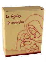 "Immagine di 'Tegola in ceramica ""Ave Maria"" - altezza 8,5 cm'"