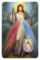 Card Gesù Misericordioso in PVC - 5,5 x 8,5 cm - italiano