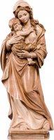 Statua della Madonna Tirolese in legno, 3 toni di marrone, linea da 30 cm - Demetz Deur