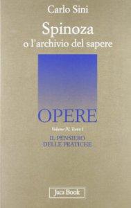 Copertina di 'Spinoza o l'archivio del sapere'