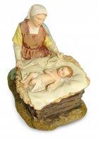 Immagine di 'Gruppo Madonna inginocchiata con Gesù Bambino Linea Martino Landi - presepe da 12 cm'