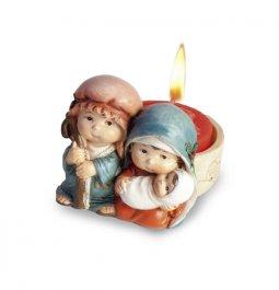 Copertina di 'Sacra Famiglia con lumino - Serie bimbi (6 cm)'