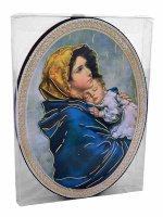 """Immagine di 'Icona ovale """"Madonna del Ferruzzi"""" - dimensioni 14,5x10,5 cm'"""