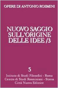 Copertina di 'Nuovo saggio sull'origine delle idee'