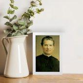 """Immagine di 'Quadretto """"Don Bosco"""" con cornice minimal - dimensioni 15x10 cm'"""