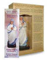 Immagine di 'Statua di Santa Madre Teresa di Calcutta da 12 cm in confezione regalo con segnalibro in IT/EN/ES/FR'
