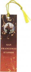 Copertina di 'STOCK: Segnalibro in pvc cm 3,8x12,7 con resina di San Francesco e preghiera - italiano'