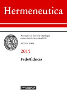 Copertina di 'Hermeneutica. 2015: Fede/fiducia.'