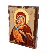 """Tavoletta in legno massello """"Madonna col Bambino"""" - dimensioni 25x20 cm"""