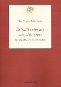 Copertina di 'Estratti catenari esegetici greci'