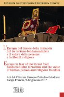 L' Europa nel timore della minaccia del terrorismo fondamentalista e il valore della persona e la libertà religiosa - Consilium Conferentiarum Episcoporum Europae (CCEE)