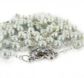 Immagine di 'Rosario imitazione perla azzurro mm 5 con coppiglie'