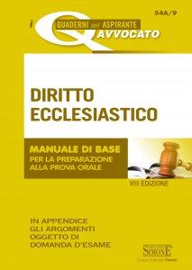 Copertina di 'I Quaderni dell'Aspirante Avvocato - Diritto Ecclesiastico'