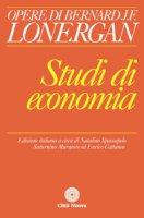 Studi di economia - Lonergan Bernard