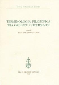 Copertina di 'Terminologia filosofica tra Oriente e Occidente'