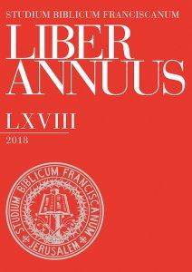 Copertina di 'Liber Annuus, LXVIII-2018'