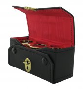 Astuccio kit celebrazione messa con tre vasetti dorati