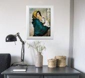 """Immagine di 'Quadro """"Madonnina"""" del Ferruzzi con lamina oro e cornice con decorazione a sbalzo'"""