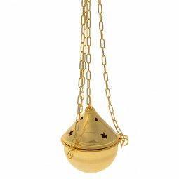 Copertina di 'Turibolo in ottone dorato decorato con colombe'