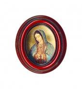 """Icona ovale """"Madonna di Guadalupe"""" - dimensioni 12,5x10 cm"""